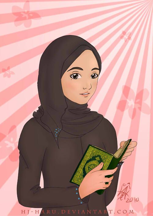 Girl With Quran in Calm Reflection