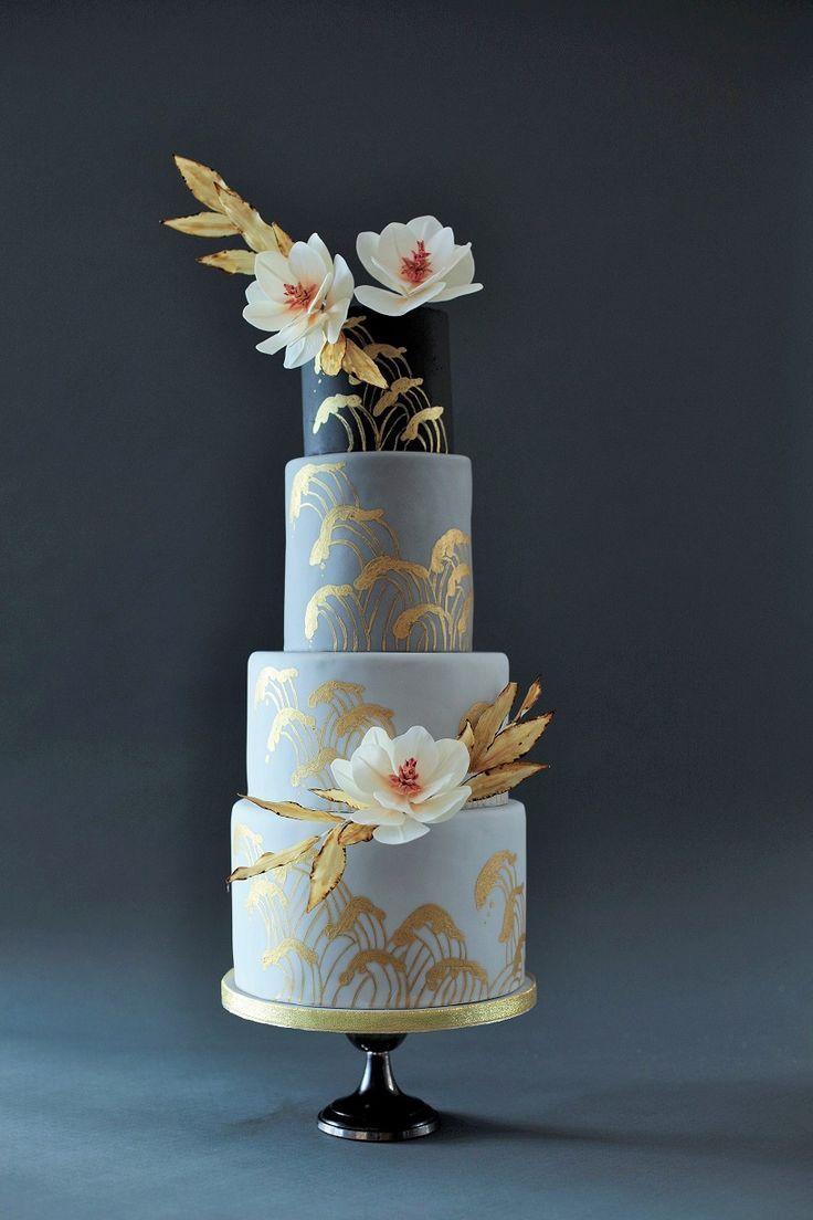 Japanese-inspired wedding cake