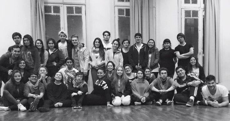 Los alumnos de la versión 2015 del Preuniversitario de la Escuela de Teatro U.Mayor