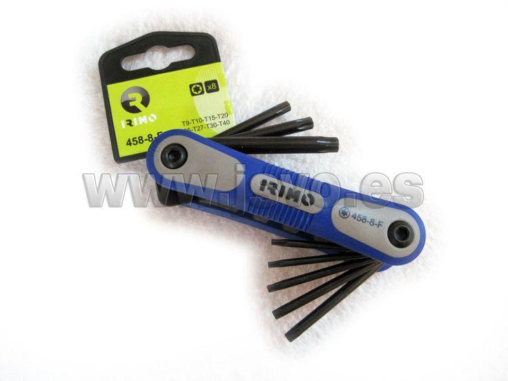 Juego en navaja de 8 llaves Torx IRIMO 458-8-F #herramientas #bricolaje #taller #IRIMO