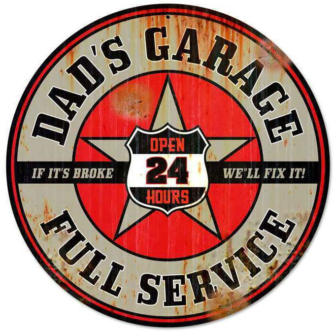 988 best old gasoline signs images on pinterest vintage plates a retro dads garage round metal sign 28 x 28 inches solutioingenieria Image collections