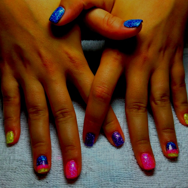 Rainbow nails! Perfect for a tight and bright stagette!