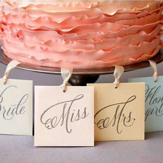 Bridal Shower 8 Silver Charm Cake Pulls For Your Bridesmaids Flower S Via