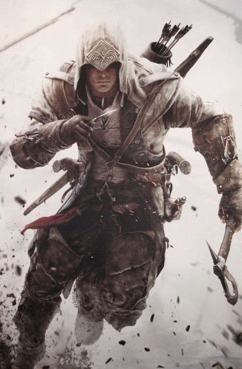 """When I'm not feeling sorry for their fingers, I have a lot of fun playing Connor and Desmond on Assassin's Creed 3! Awesome graphic detailing and some VERY cool moves, no less. It's an unabashedly """"cool"""" game, though I find I have to question a lot of the plot's sense (but really, who cares) (actually, I kind of do)."""