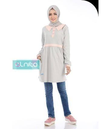 Beli Baju Atasan Wanita Tunik ALNITA AA-12 ABU MUDA dari Aprilia Wati agenbajumuslim - Sidoarjo hanya di Bukalapak