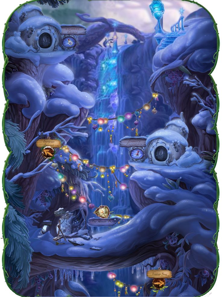 icy winter decor | Pixie Hollow Events: 2010 Winter Wonderland Party - Disneys Online ...