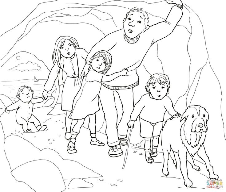 14 best images about we 39 re going on a bear hunt on for Going on a bear hunt coloring pages