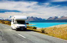 Campervan Near Mt. Cook, New Zealand