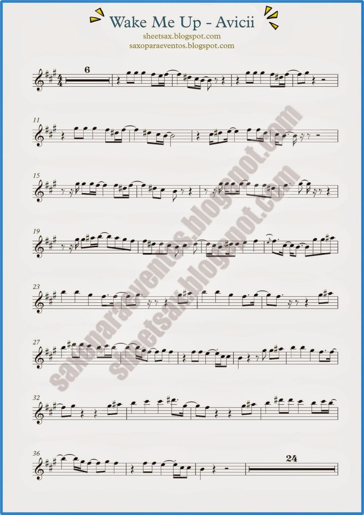 Wake Me Up by Avicii (Sheet music and playalong for your instrument) | Free sheet music for sax