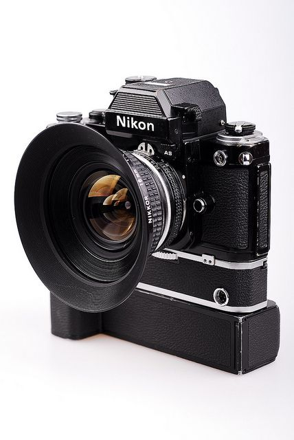 Nikon F2 AS with Nikon Nikkor 18mm lens and MD 2 camera by heliolm, via Flickr