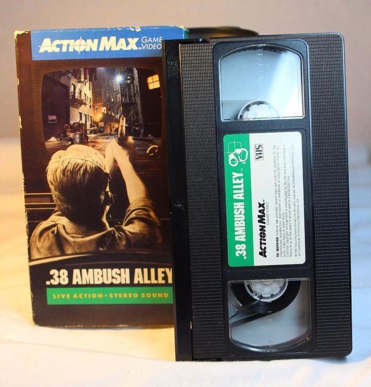 Action Max .38 Ambush Alley VHS Light Gun Video Game NTSC EUC Vintage RARE 1987