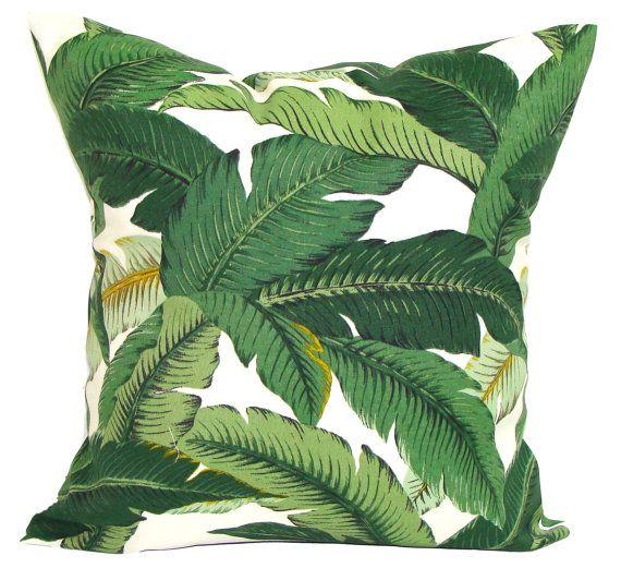 Extérieur vert oreiller couverture, oreiller vert, feuille oreiller, coussin…