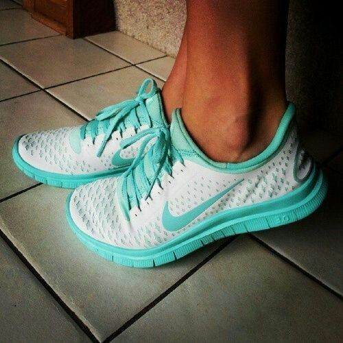 nike free 3.0 v4 White Tiffany Blue - Click Image to Close