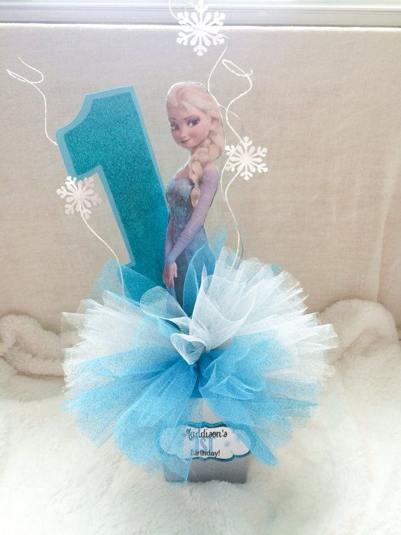 Frozen Centerpiece Elsa Anna and Olaf por MaddiesCreationsCo