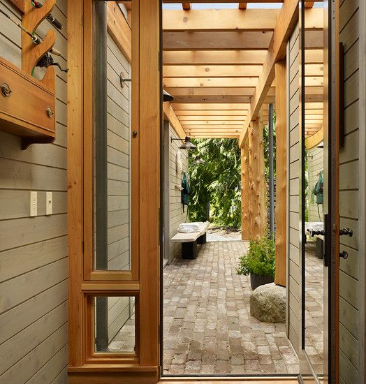 love the feeling of this entryway david vandervort architects