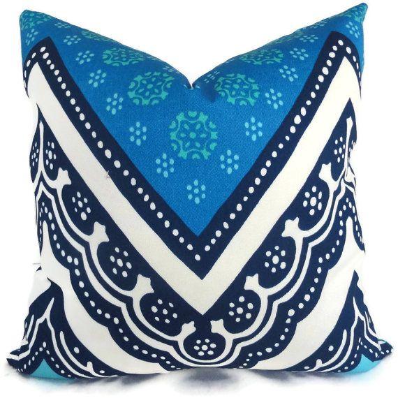 Trina Turk Tangier Frame Designer  Indoor Outdoor Pillow Cover, Schumacher, 18x18, 20x20,22x22