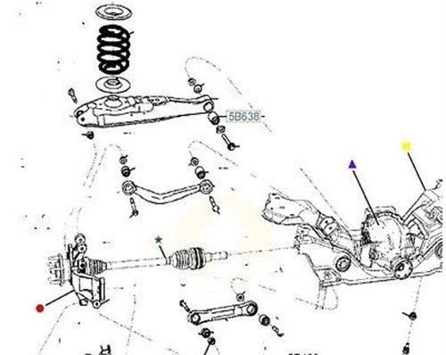 details about genuine ford ba bf fg falcon rear lower control arm pivot bush 5b638