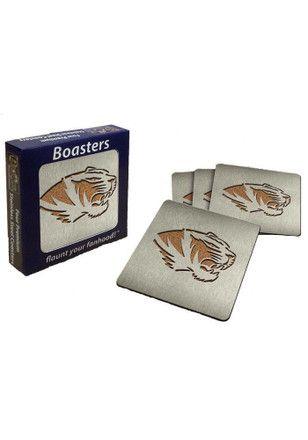 Missouri Tigers 4pk Stainless Steel Coaster