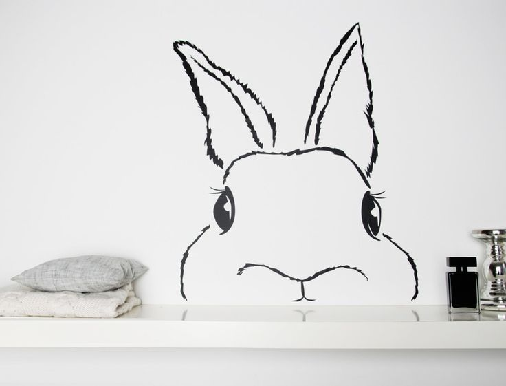 Wandtattoo Hase // wall sticker bunny via DaWanda.com