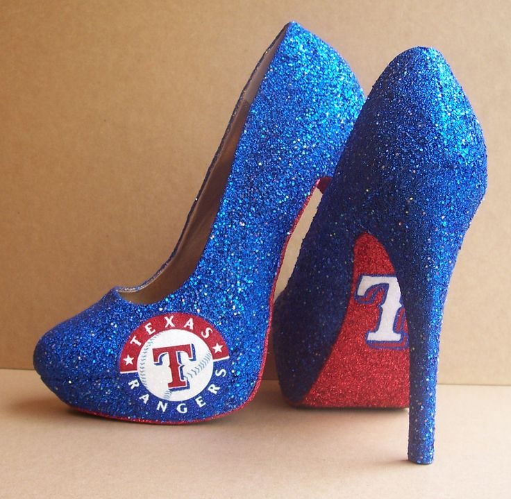 Custom High Heels  Texas rangers