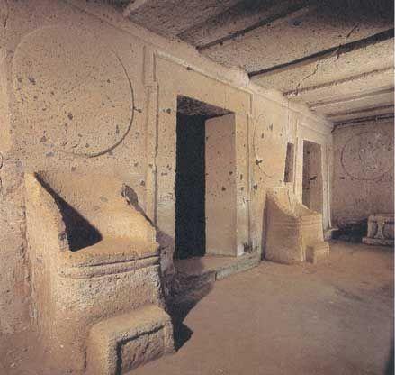 Tomba delle sedie e degli scudi, 7th-6th century B.C.