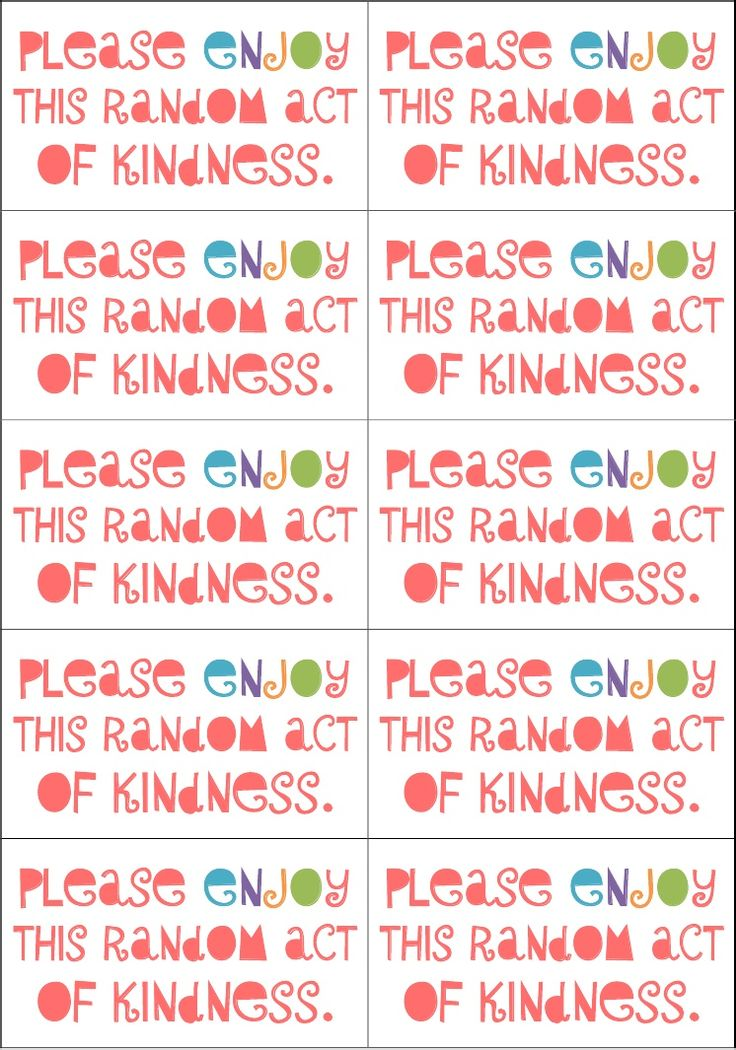 Random act of kindness cards | Great ideas. | Pinterest