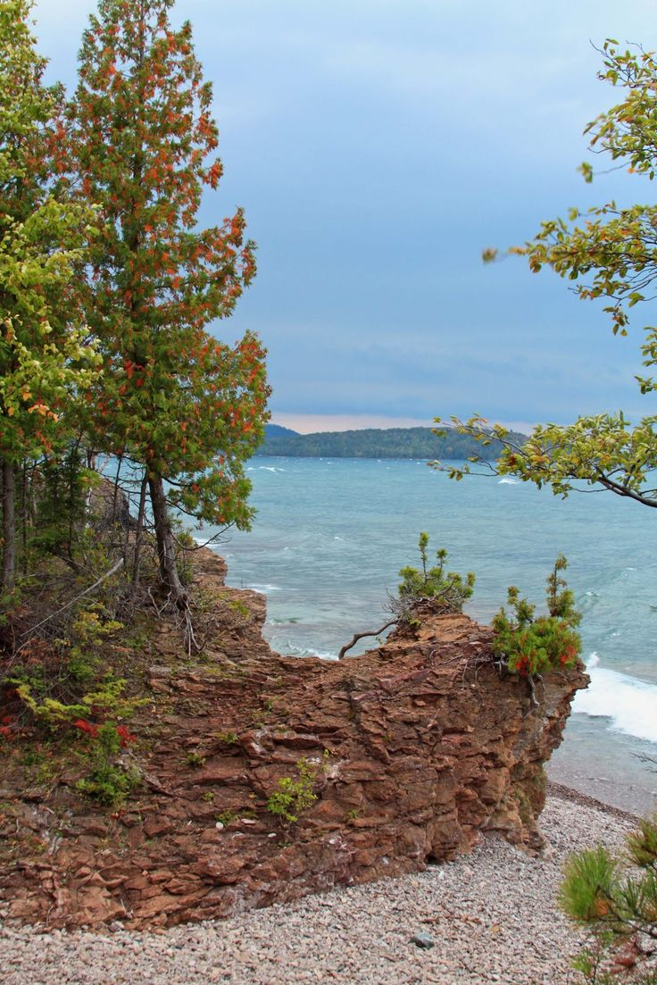 """The Cove"" at Presque Isle, a city park in Marquette, Michigan, USA"