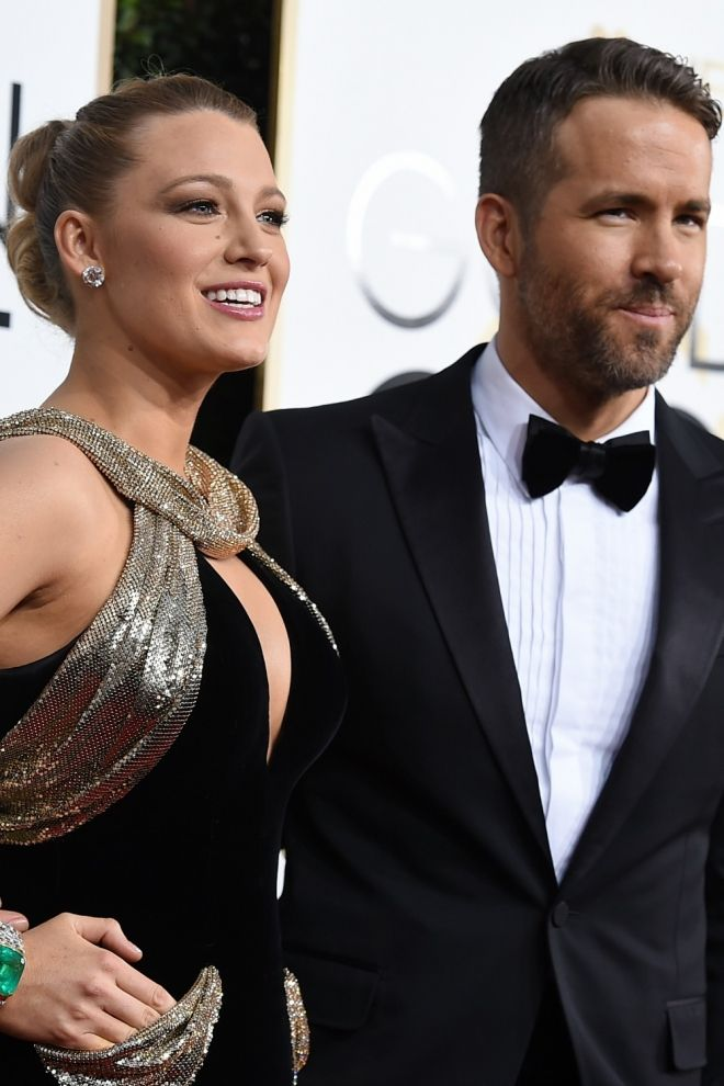 Parejas en los Globos de Oro 2017: Blake Lively y Ryan Reynolds