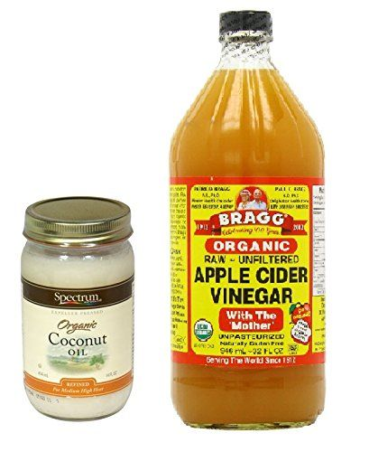 Spectrum Organic Coconut Oil 14 oz and Bragg Organic Raw Apple Cider Vinegar 32 Ounce Bundle Bundle -- You can get more details by clicking on the image.
