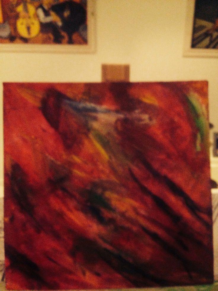 'For all the birds' - CJ.  My first acrylic.