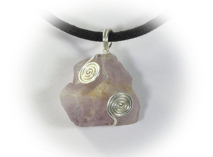 A neclace, pendant - raw amethyst from betulek by DaWanda.com  #pendant   #wisiorek    #amethyst  #zawieszka   #charms     #necklace    #jewelry   #jewellery   #gift   #beauty   #trendy #instagood #fashion   #style   #minimalism #reiki  #handmade   #handmadejewelry   #buyhandmade   #betulek   #bybetulek   #jewel   #look
