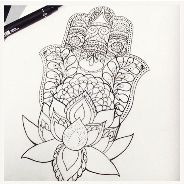 ... drawings sleeve tattoo designs tattoo ideas forward hamsa with lotus