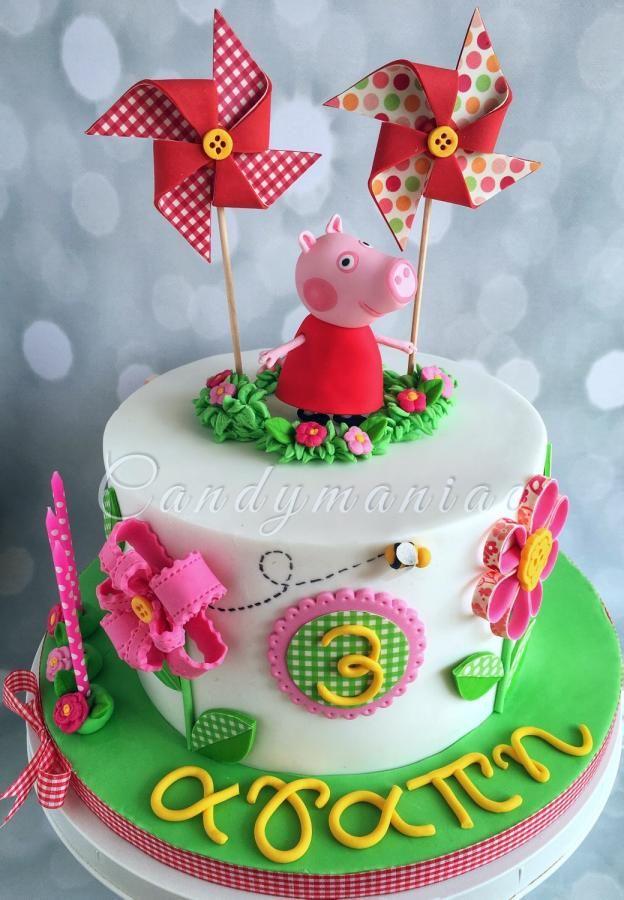 Peppa Spring cake by Mania M. - CandymaniaC