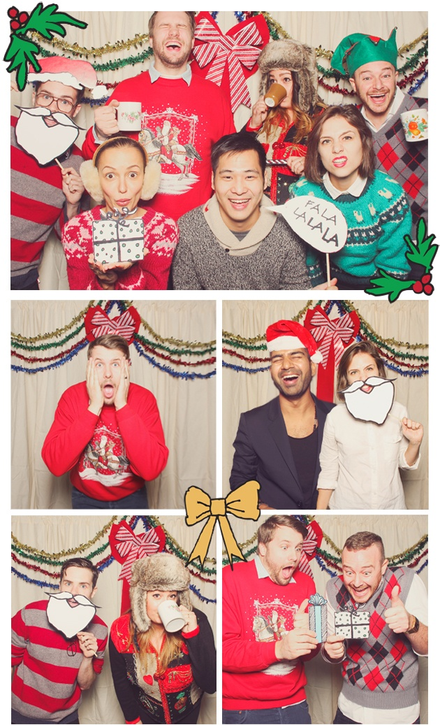 christmas photo booth love the hand drawn props