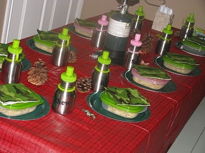 Lots of good ideas for a camping/sleepover themed party