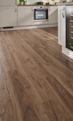 howdens professional fast fit v groove american pecan laminate flooring - Laminate Flooring In A Kitchen