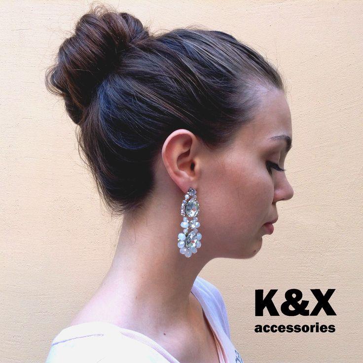 серьги Roma White  #kxroma #white #accessories #odessa #handmade #luxury #fashion #style #kxfashion #jewelry #fashion #earrings #glam