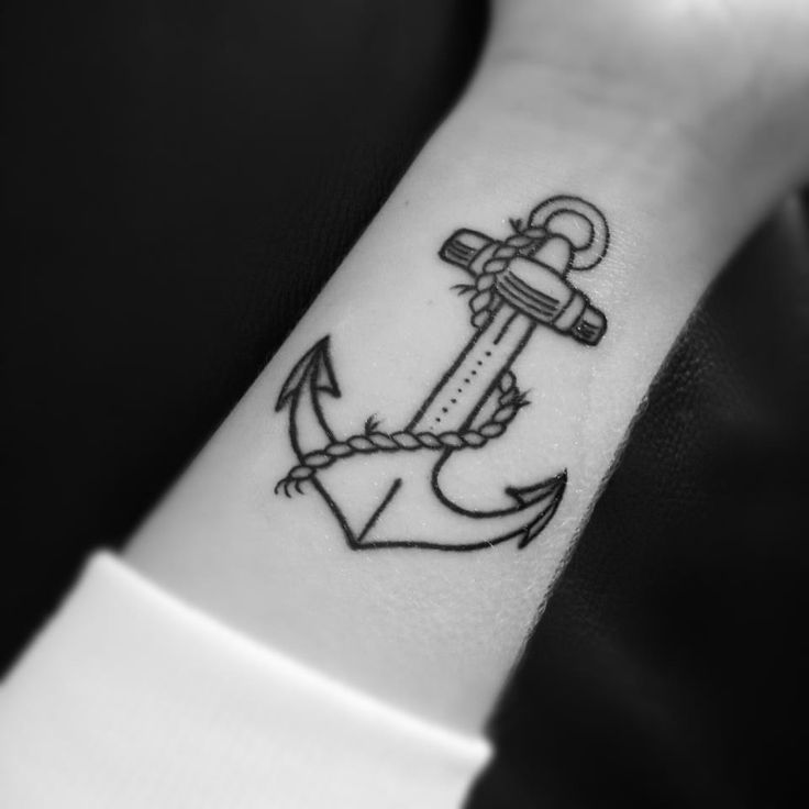 from tumblr:  First tattoo by Tiny Tim at Devil's Ink in Newport, Melbourne.  The anchor represents strength and holding fast through times of trouble.
