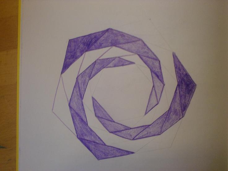 Slakkenhuisje construeren uit een cirkel.