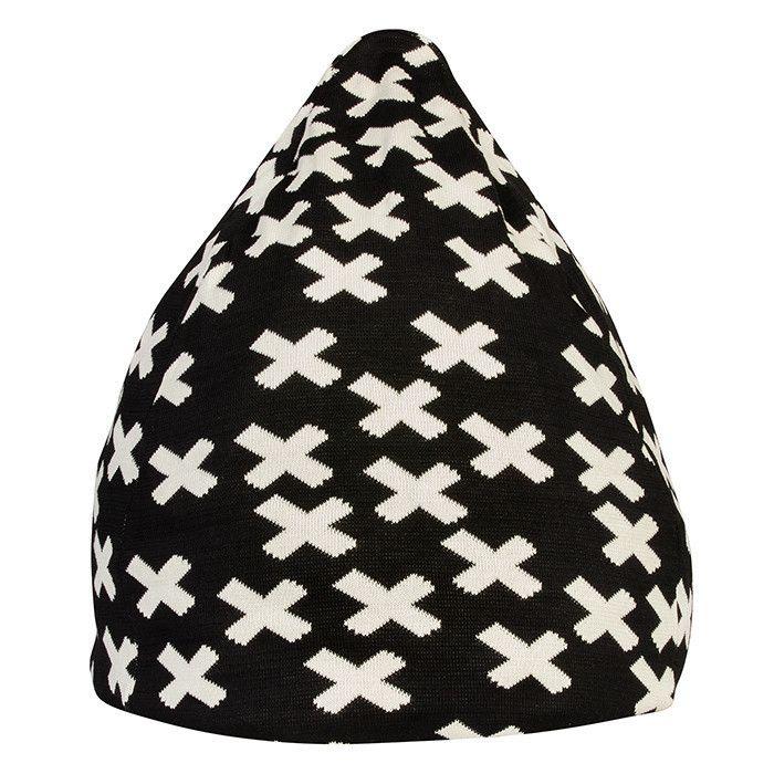 Black Random Cross Bean Bag – La De Dah Kids