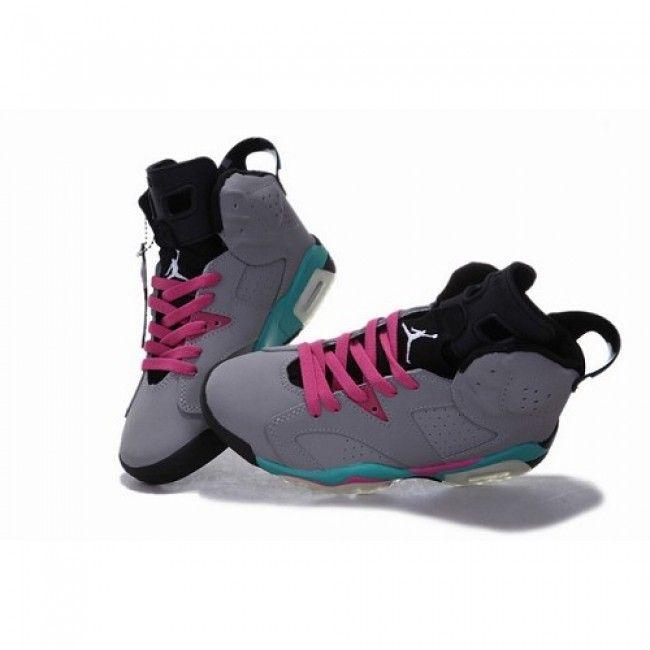 pink and blue stilettos | ... Air Jordan Retro 6 VI Women Shoes Grey