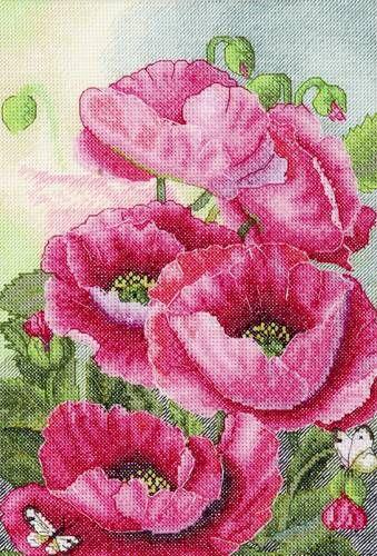 Набор для вышивания Hobby&Pro 778 Розовые маки