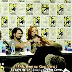 Lmao im dead  Becky is awesome! Hope to see her in the Club one day w/ Finn Balor & AJ Styles