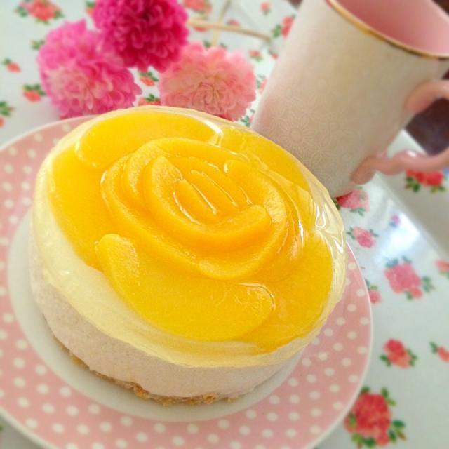 桃のムースケーキ