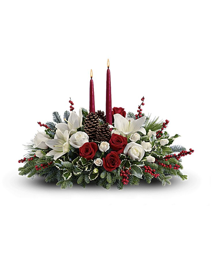 Christmas Wishes Centerpiece Bouquet