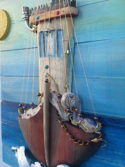 traditional fishing boat made from pallet wood  ..handmade,handmadekriti