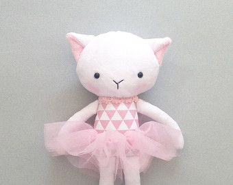 Cat rag doll - Plush cat - Handmade cat doll - Stuffed toy - plush doll - Cloth…