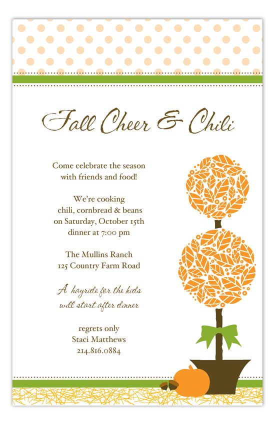 harvest topiary invitation in 2018 parties pinterest party
