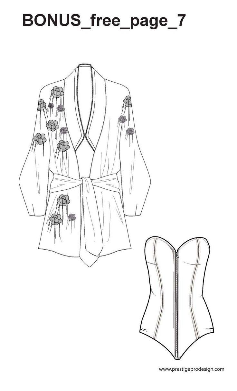 Mejores 16 imágenes de Intimate_& Sleepwear_fashion flats templates ...
