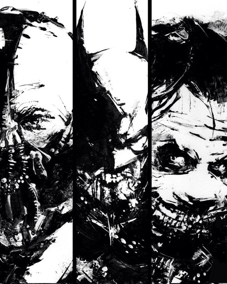 Set of Three Poster, Dark Knight, Batman art, Batman, Joker poster, Bane poster, Black and White Art, Batman Poster, Dark Knight  Poster by BlackraptorArt on Etsy https://www.etsy.com/listing/207981437/set-of-three-poster-dark-knight-batman